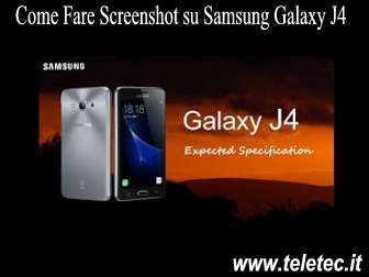 Come Fare Screenshot su Samsung J4