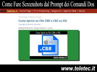 Come Fare Screenshots dal Prompt dei Comandi Dos su Windows