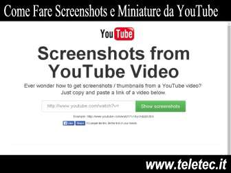 Come Fare Screenshots e Miniature dai Video di YouTube