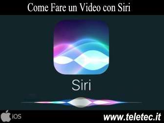 Come Fare un Video con Siri