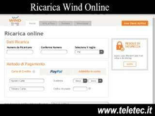 Come Fare una Ricarica Wind Online