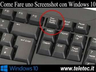 Come Fare uno Screenshot con Windows 10
