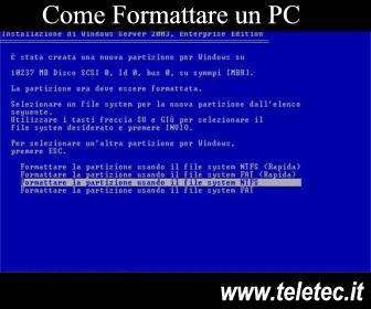 Come Formattare un PC ed installare Windows o Linux