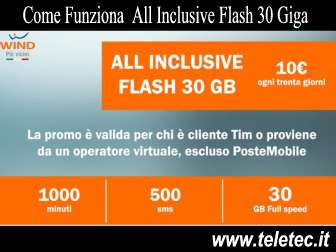 Come Funziona All Inclusive Flash 30 Giga di Wind