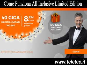 Come funziona all inclusive limited edition  novembre 2018