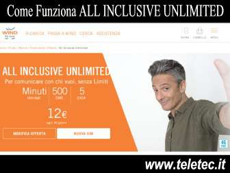 Come Funziona ALL INCLUSIVE UNLIMITED di Wind