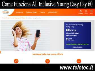 Come Funziona All Inclusive Young Easy Pay 60 con 60 GIGA a 11,99 - Settembre 2020