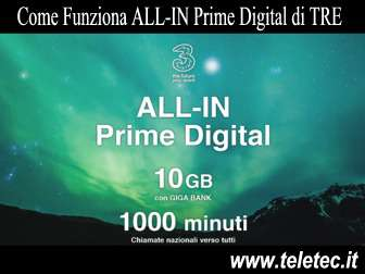 Come funziona allin prime digital di tre