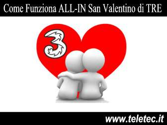 Come Funziona 'ALL-IN San Valentino' di TRE
