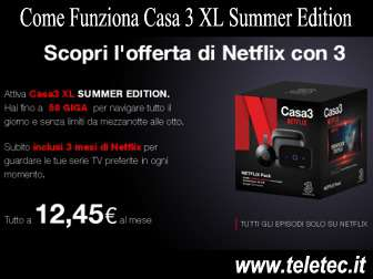 Come Funziona Casa 3 XL Summer Edition 2017 - 50 GIGA e Netflix