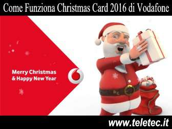 Come Funziona Christmas Card 2016 di Vodafone