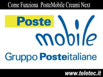 Come Funziona Creami Next di PosteMobile con 50 GB e Chiamate Illimitate a 8,30 Euro