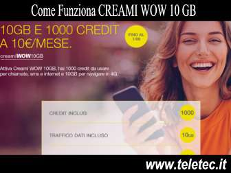 Come funziona creami wow 10 gb di postemobile