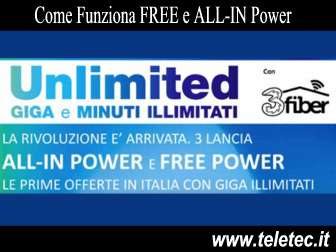 Come funziona free e allin power di tre con samsung s9 e s9