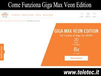 Come funziona giga max veon edition di wind  20 giga full speed