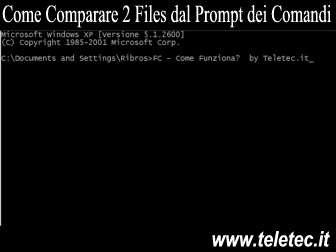 Come Funziona il Comando FC di MS-DOS - Comparare 2 Files