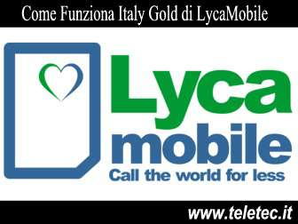 Come Funziona Italy Gold di LycaMobile - 40 GB e Minuti Illimitati