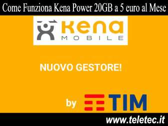 Come Funziona Kena Power DS 20GB e 1000 Minuti a 5 euro al Mese - Natale 2018