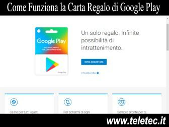 Come Funziona la Carta Regalo di Google Play