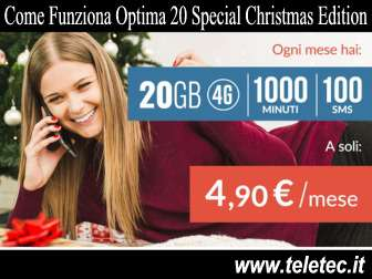 Come Funziona Optima 20 Special Christmas Edition - 20 Giga e 1000 Minuti - Natale 2018