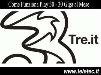 Come funziona play 30 plus di tre  30 giga per natale 2018