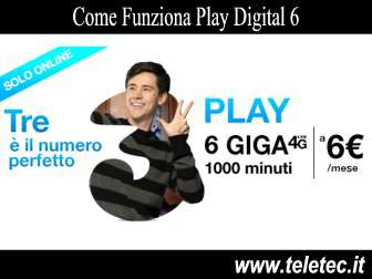 Come Funziona Play Digital 6 - 6 Giga in 4G e 1000 minuti