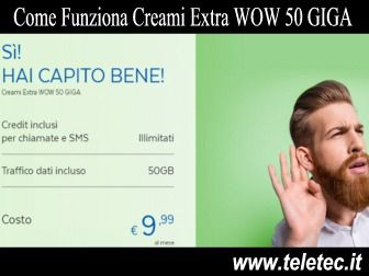 Come Funziona PosteMobile Creami Extra WOW EBE - 50 GB e Credit Illimitati a 8,99 Euro