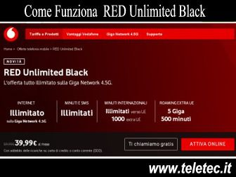 Come Funziona RED Unlimited Black di Vodafone con Internet e Chiamate Illimitate a 39,99 Euro - Settembre 2020