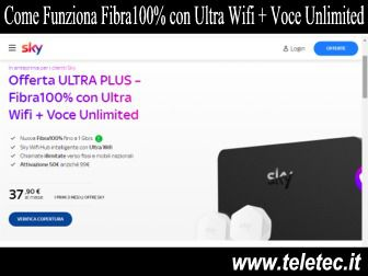 Come Funziona Sky WiFi Fibra100% con Ultra Wifi + Voce Unlimited