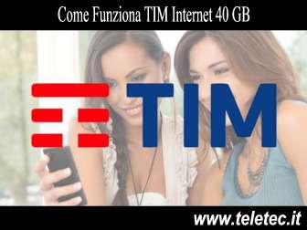 Come Funziona TIM Internet 40 GB