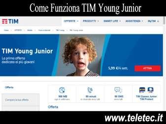 Come Funziona TIM Young Junior