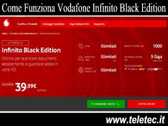 Come Funziona Vodafone Infinito Black Edition con Internet e Chiamate Illimitate a 29,99 Euro Tutto Illimitato