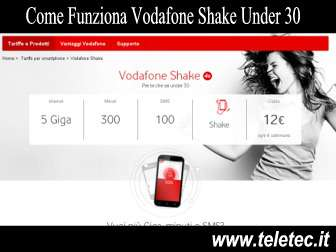 Come Funziona Vodafone Shake Under 30