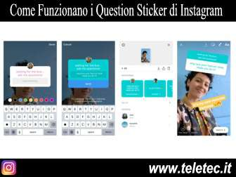 Come funzionano i question sticker di instagram