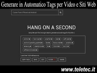 Come Generare in Automatico Tags per Video di YouTube e Siti Web