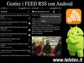 Come Gestire e Leggere i Feed Rss con Android