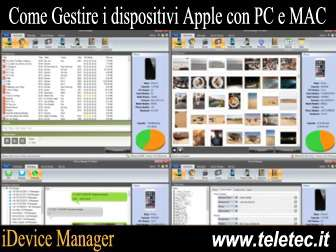 Come Gestire i dispositivi Apple con il PC e iDevice Manager