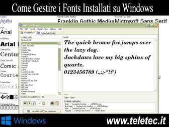 Come Gestire i Fonts Installati su Windows - AMP Font Viewer