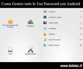 Come Gestire tutte le Tue Password con Android