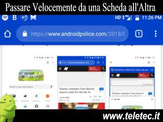Come Gestire Velocemente le Schede Aperte di Google Chrome su Android