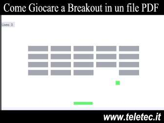 Come Giocare a Breakout all'interno di un file PDF