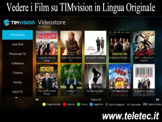 Come Guardare i Film in Lingua Originale su TIMvision