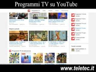 Come Guardare i Programmi TV su YouTube