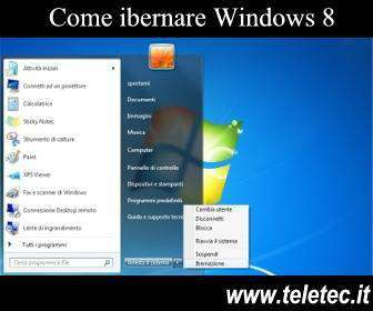 Come ibernare Windows 8