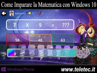 Come Imparare la Matematica con Windows 10 Mobile