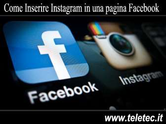Come inserire Instagram in una pagina Facebook