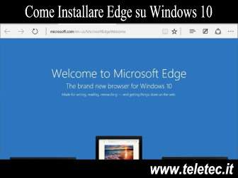 Come Installare Edge su Windows 10