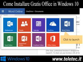 Come Installare Gratis Office in Windows 10