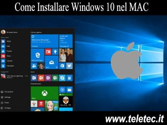 Come Installare Windows 10 nel MAC