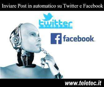 Come inviare automaticamente post su twitter e facebook ad una specifica ora del giorno